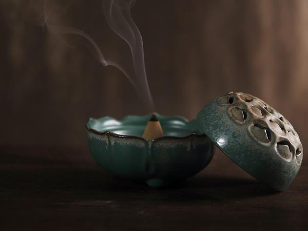 蓮花開運陶瓷香爐3
