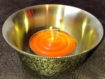 八吉祥純銅供燈盤,燈盤